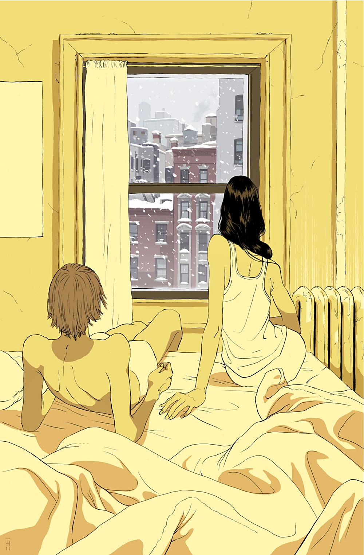 """Perfect Storm"", תומר חנוכה. השער של המגזין ניו-יורקר, פברואר 2014"