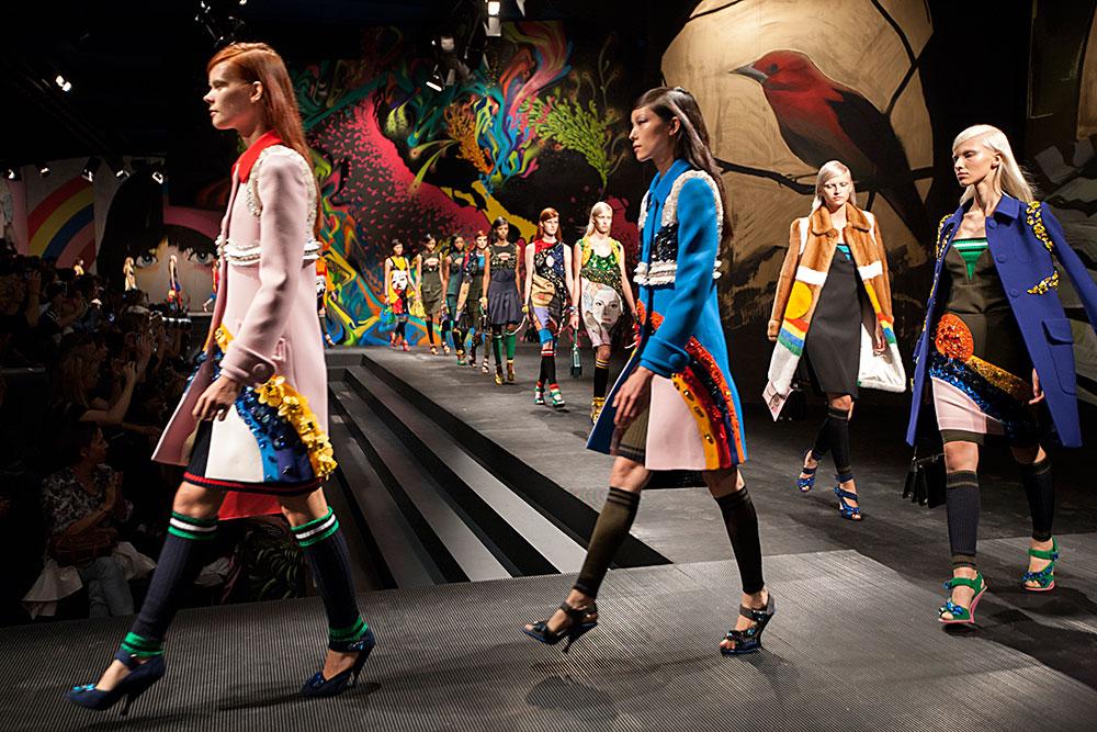פרדה, קולקציית אביב-קיץ 2014, עיצוב: מוצ'יה פרדה. הזוכה בקטגוריית האופנה