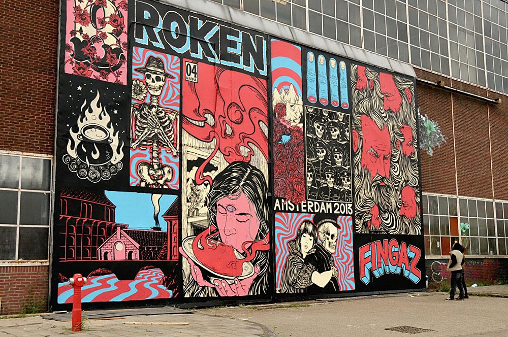 קיר של ברוקן פינגאז, אמסטרדם 2013