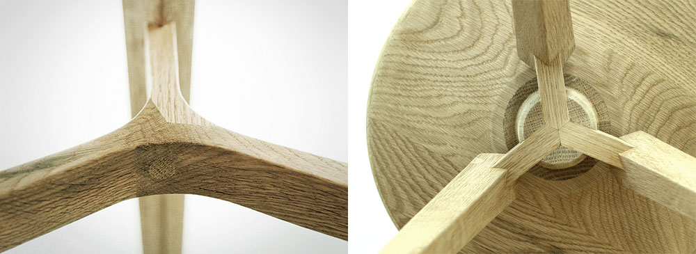 Grit, אבי פדידה, בצלאל 2014. נגרות-אומן בעץ אלון לבן, מחברים