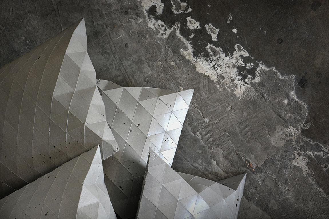 צמנטיק - בטון רך, פרויקט הגמר של אבירם כהן סיטיון Cementic. מה שנראה כיציקת בטון קשיחה מתגלה ככריות רכות