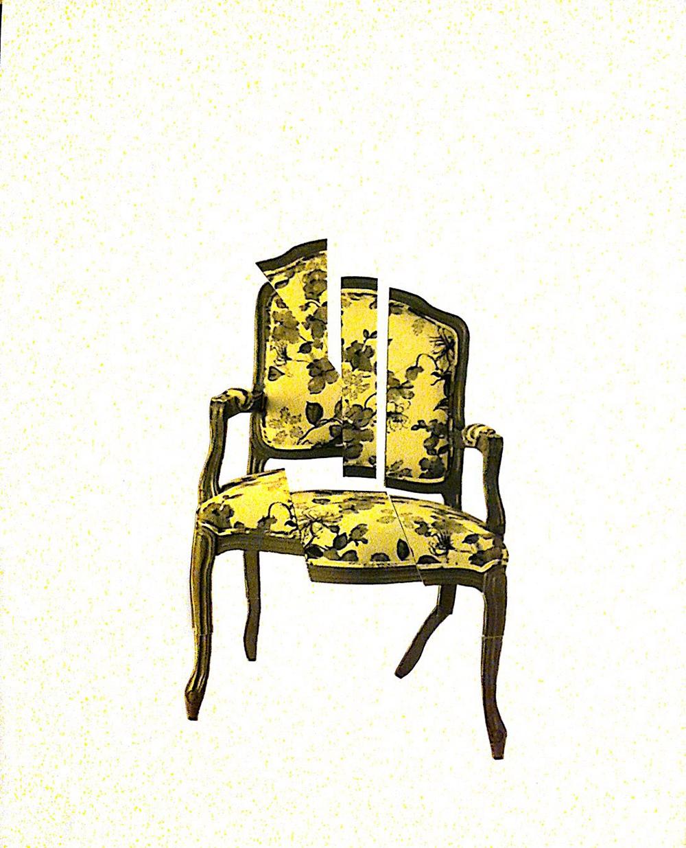 קופליוס, סקיצה של כיסא הבארוק