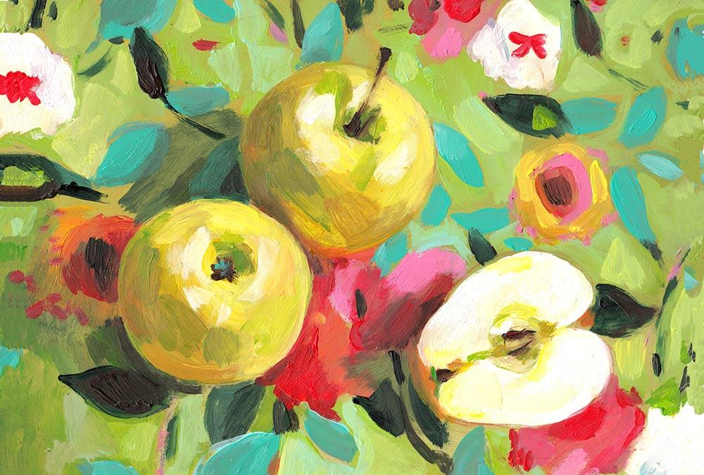 תפוחים ופרחים, השנטובה המצוירת של טלי ילונצקי