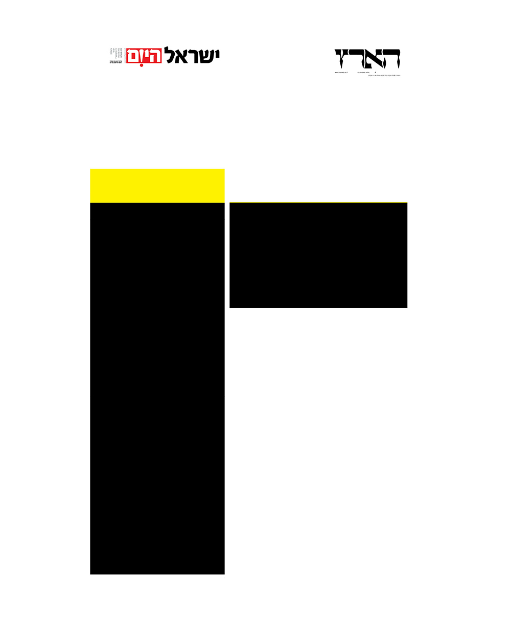 יום השואה. כמה צהוב ושחור צריך בשביל לזכור. כמות צבעי השחור והצהוב בהארץ לעומת ישראל היום
