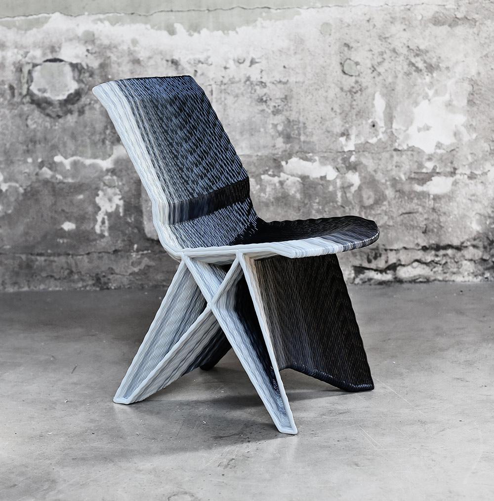 Endless Pulse Low Chair. הראשון שהדפיס ואן דר קוי בהדפסה תלת מימדית וזוכה פרס שבוע העיצוב ההולנדי
