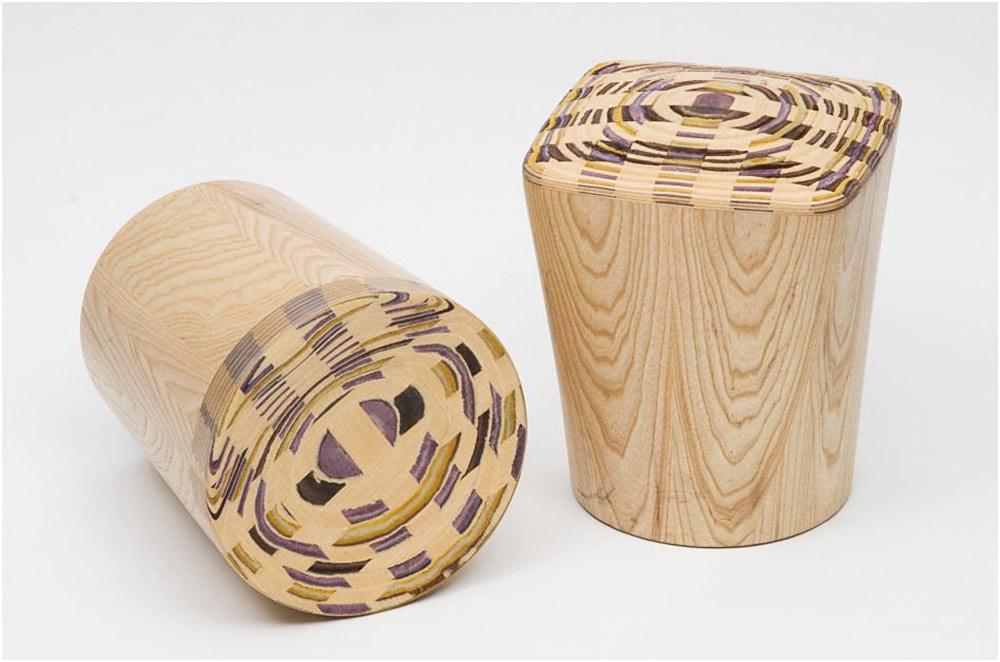 קליעת CAD. שרפרפי עץ ועור של דפי רייס דורון