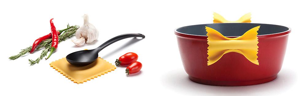Ravioli. הכרית לכף הבישול הושקה גם היא השבוע בהמשך ל-Farfalloni ושאר מוצרי הפסטה המוגדלים בעיצוב אביחי תדמור