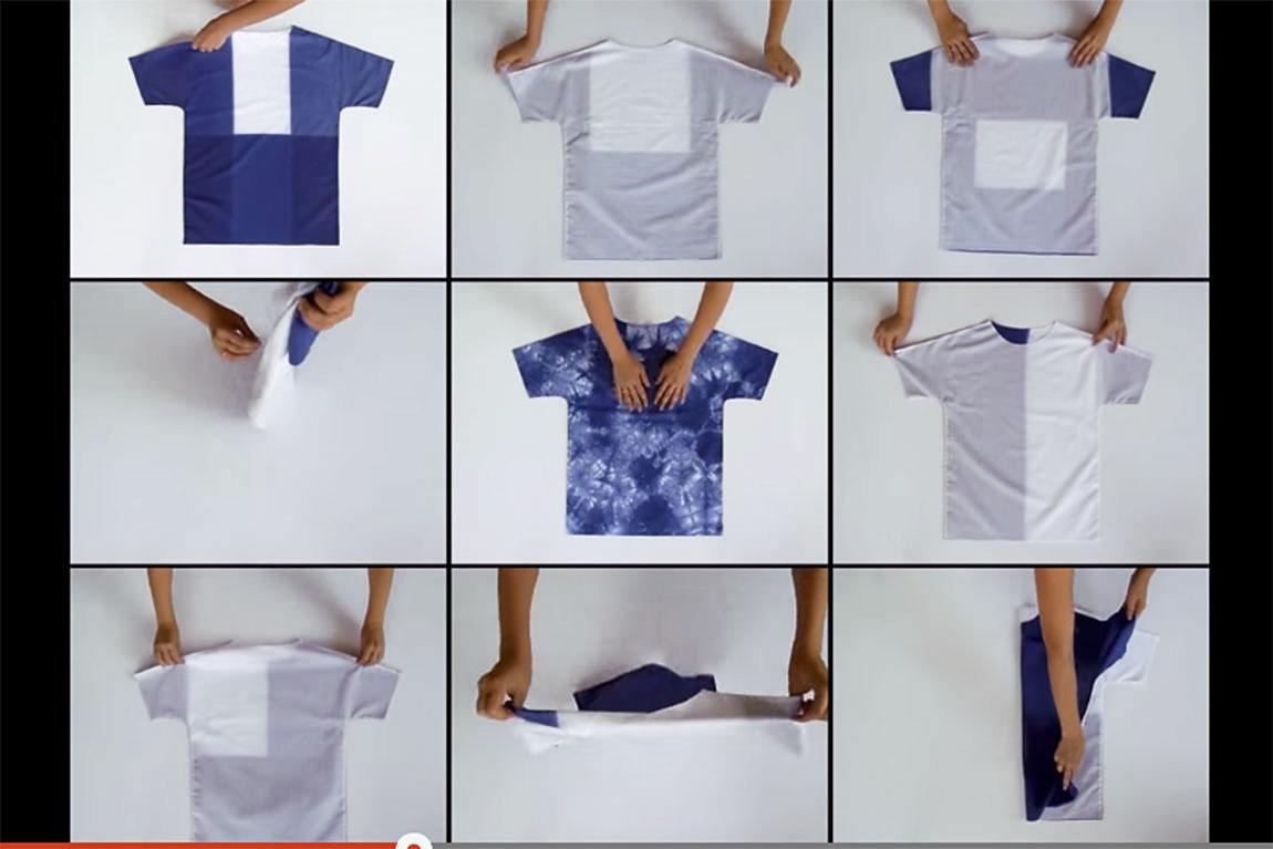 תשע דרכים לקפל חולצה. דנה בן שלום. תשעה סרטונים מוצגים במקביל