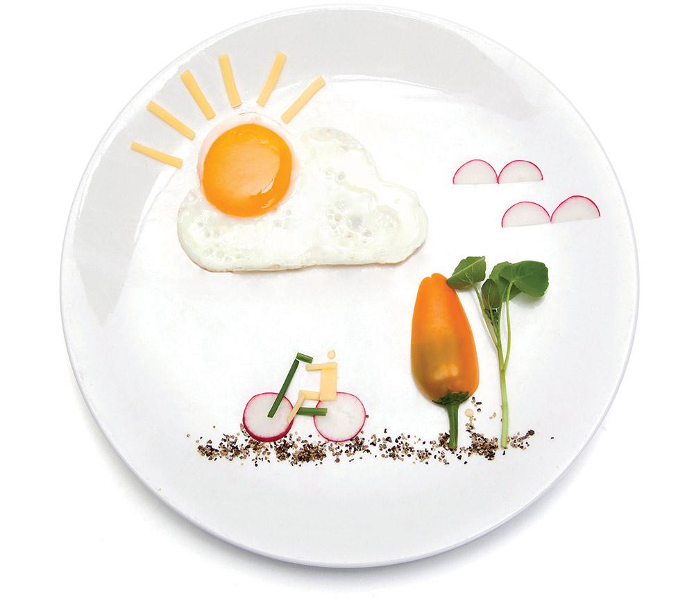 SunnySide, אביחי שורין. חיבור שמח בין יצירתיות, עיצוב וביצת עין (ציור נוף מירקות וביצת עין)