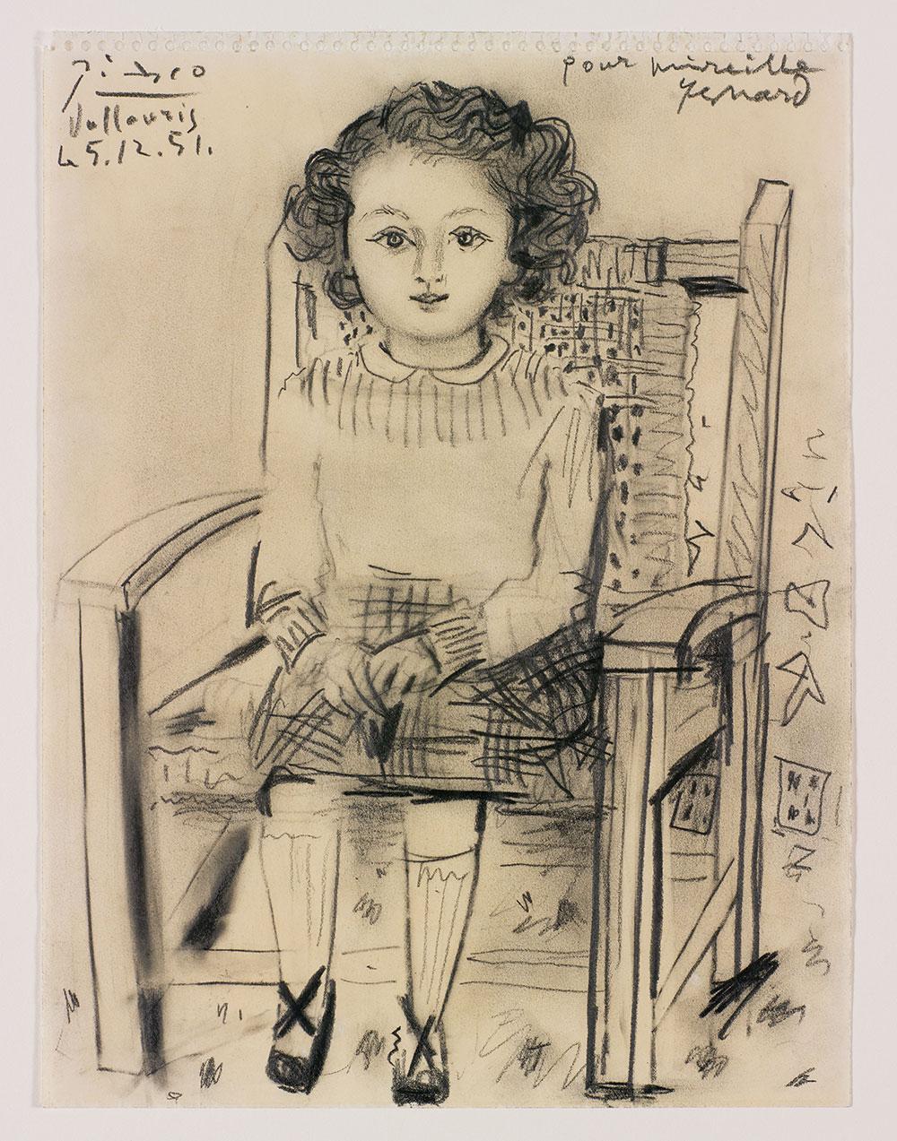 דיוקן מיריי, פבלו פיקאסו, 1951. צילום: אלעד שריג