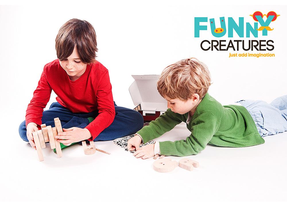 KIPOD. ילדים מרכיבים את יצורים מצחיקים