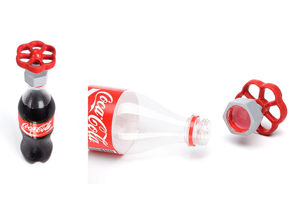סטיבן יונסף, טוויסט. פקק בקבוק בצורת ידית ברז שיבר מקל על הפתיחה