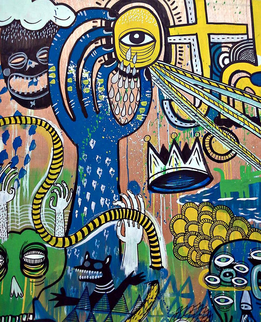 Cut By Demand 3#, עבודה בירוק, שחור, לבן, כחול וצהוב