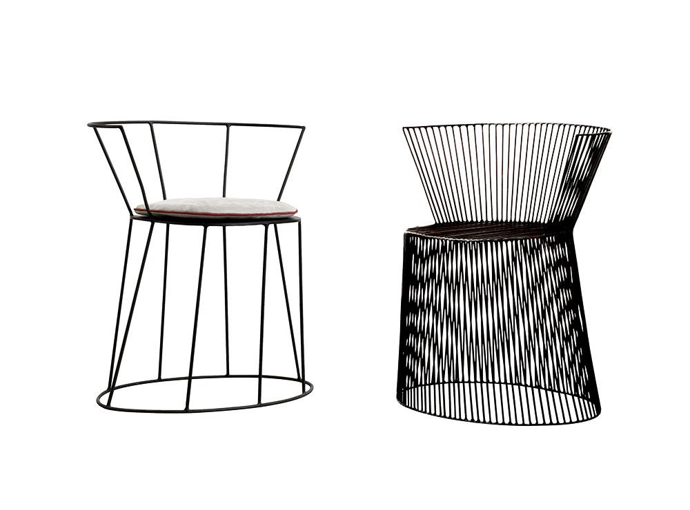 """Gibellina Nuda & Vestita, אנטוניו שיורינו ל""""בקסטר"""". כיסא פיסולי ממוטות מתכת. צילום: יח""""צ"""