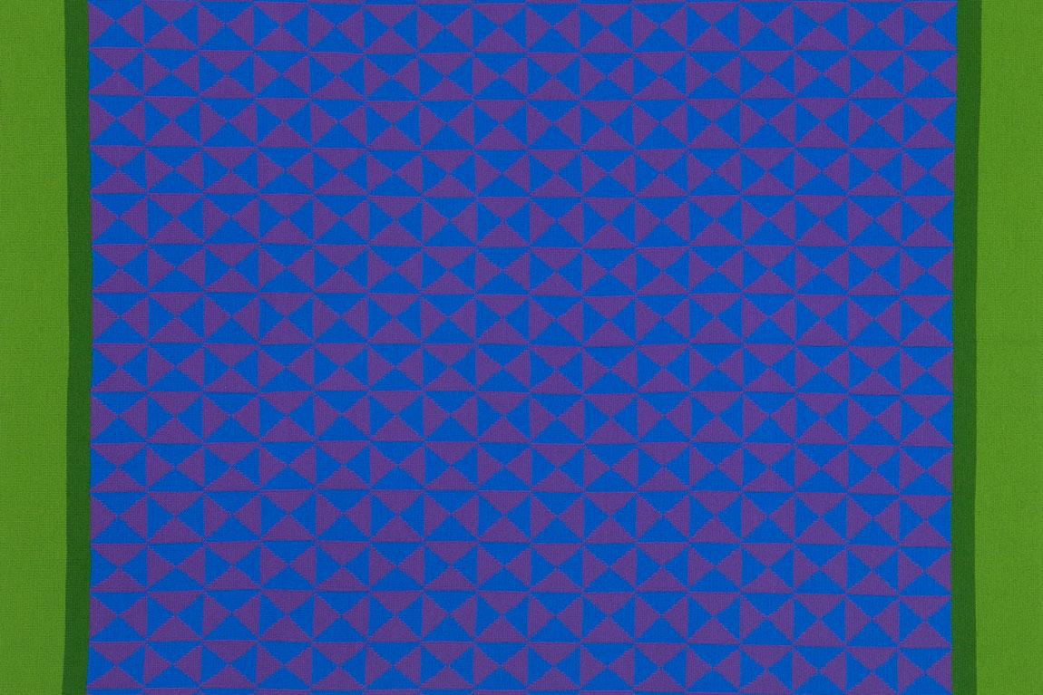 משולשים כחולים פסים ירוקים. השמיכות של אנה גיטלסון-קאהן. תמונה ראשית