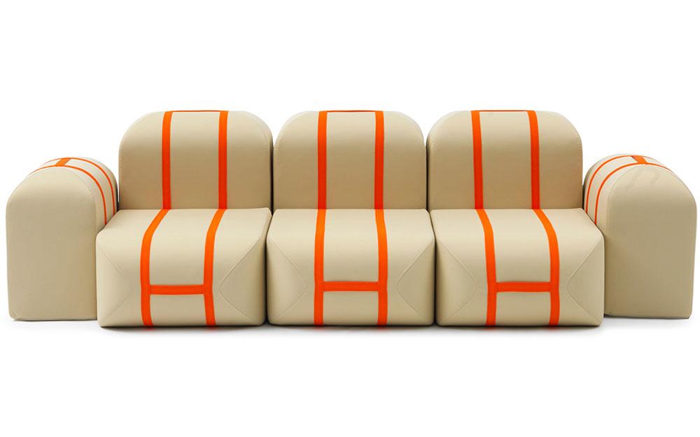 "Self Made, מטאלי קרסה ל""קמפג'י"". אתם מחליטים איך תיראה הספה שלכם. צילום:  Ezio Prandin"