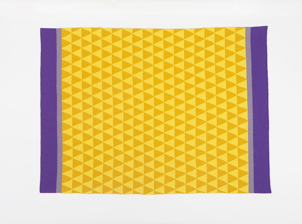 Anna, צהובים וסגולים. שמיכה של אנה גיטלסון-קאהן