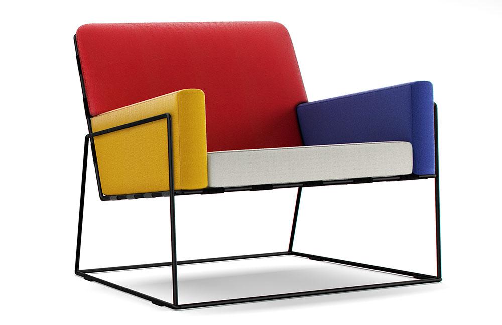 "Charles Chair, מרסל וונדרס ל""מוי"". בהשראת מונדריאן. צילום: יח""צ"