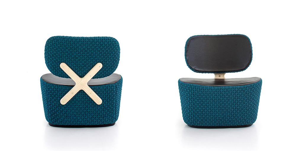 X Chair, ריצ'רד האטן. המחבר הוא האורנמנט