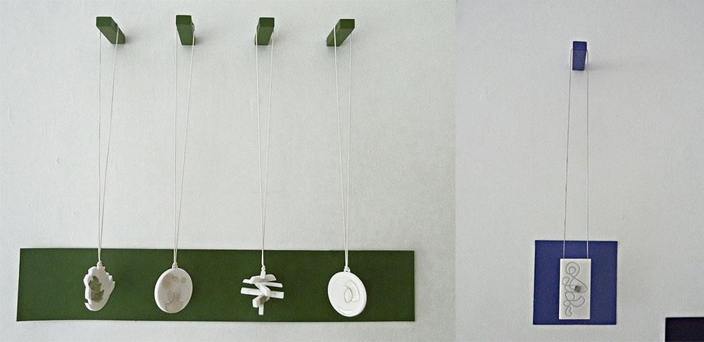 תוך כדי תנועה. סדרת התליונים של פרידמן מגיבה ל-Round & Round של רהט