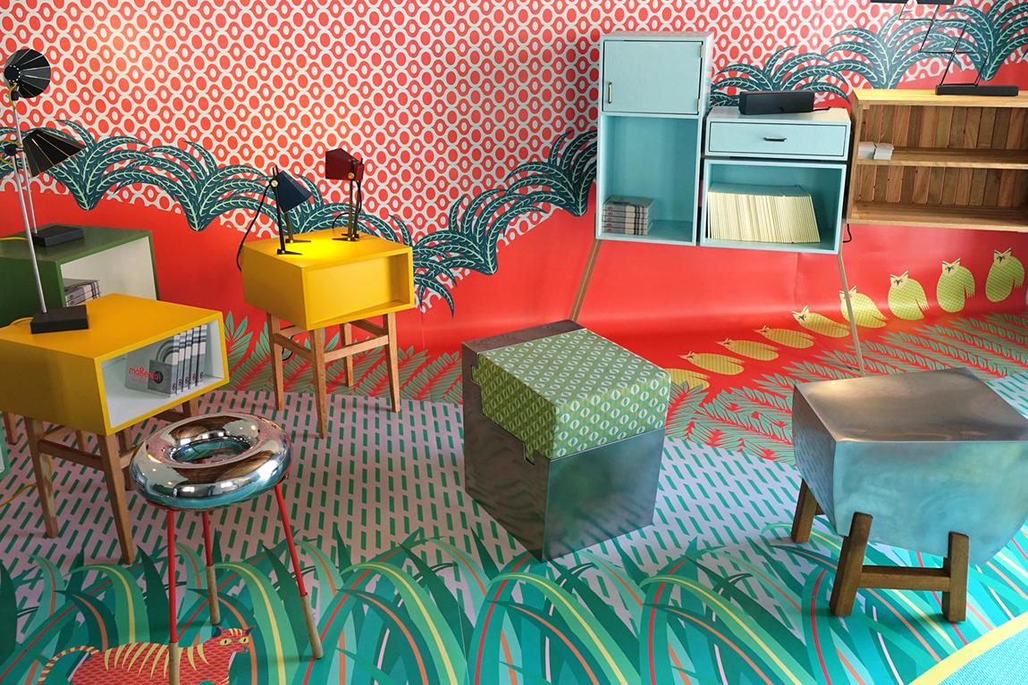 העבודות של סטודיו מג'נטה בחדר המגורים בפלאצו ליטה