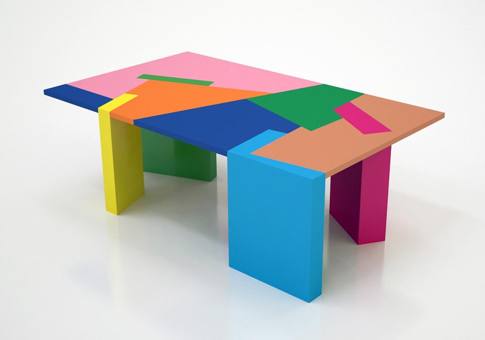 הדמיה של השולחן שעוצב בשיתוף פעולה בין רייזינגר, צוקרמן ושימשוביץ