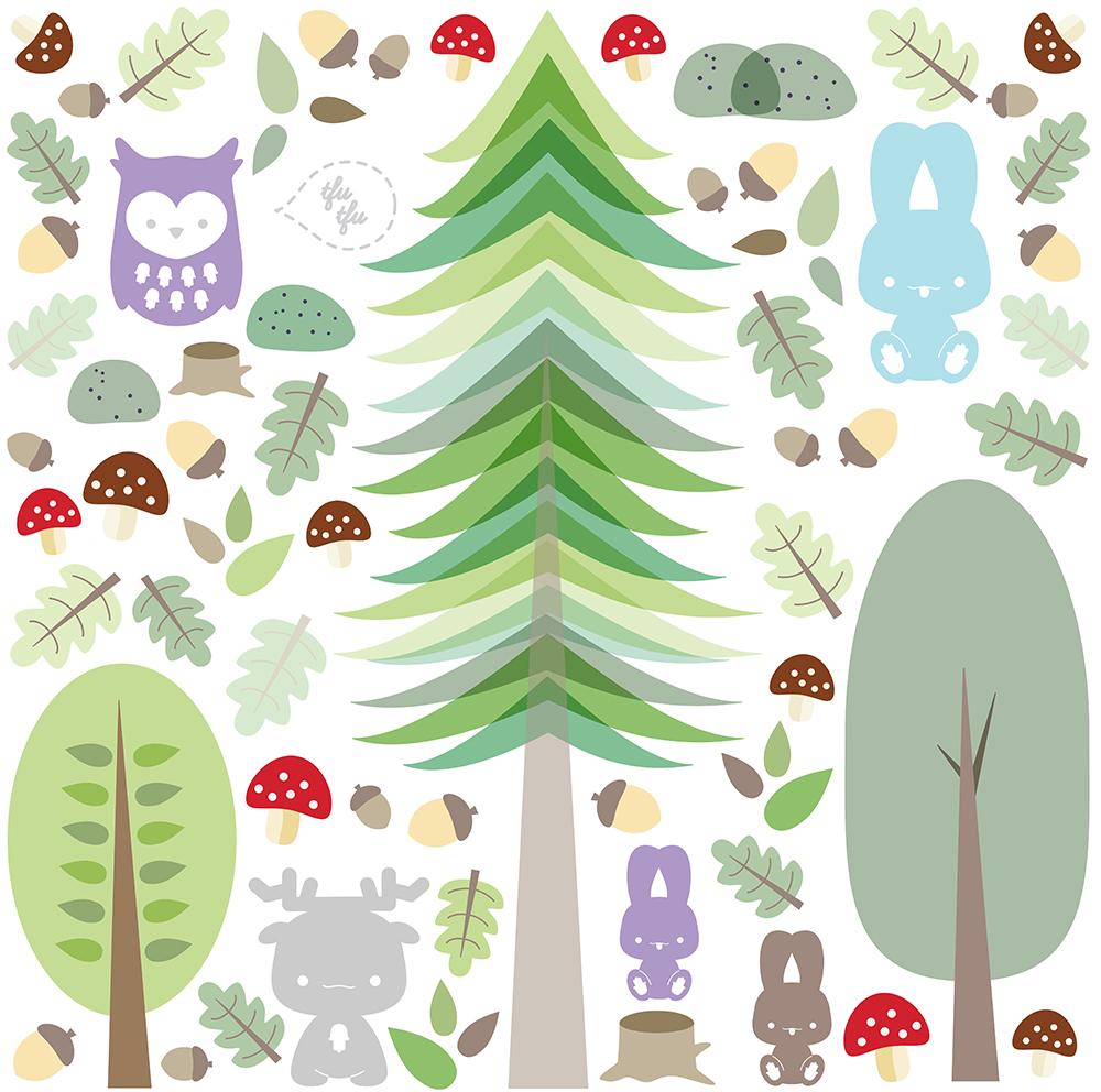 "Hollamama. יער, מדבקה 50 X 50 ס""מ"