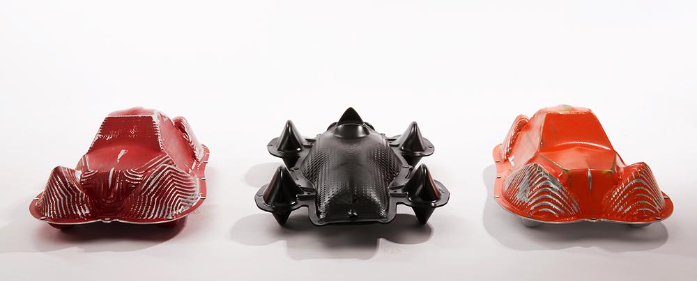 דן טובול, מכוניות, מתוך פרויקט הגמר בבצלאל, הגרסה הצבועה