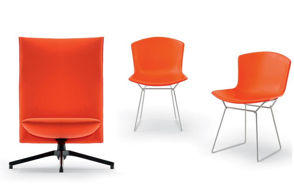 כיסא Pilot של ברבר ואוסגרבי והכיסא המחודש של הארי ברטויה, נול