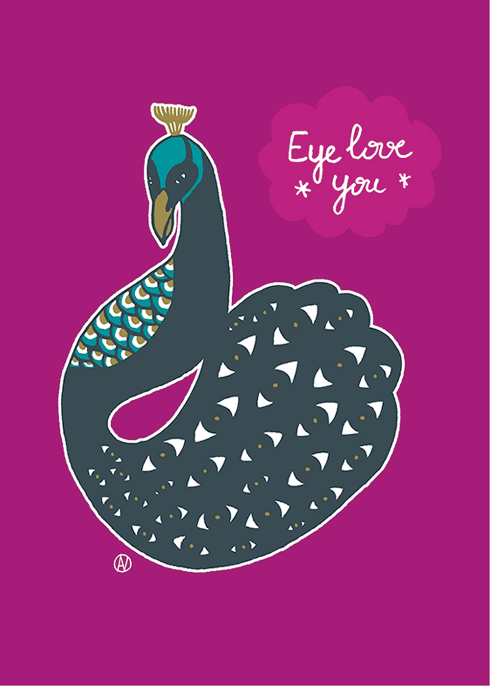 Eye for you, איור של טווס