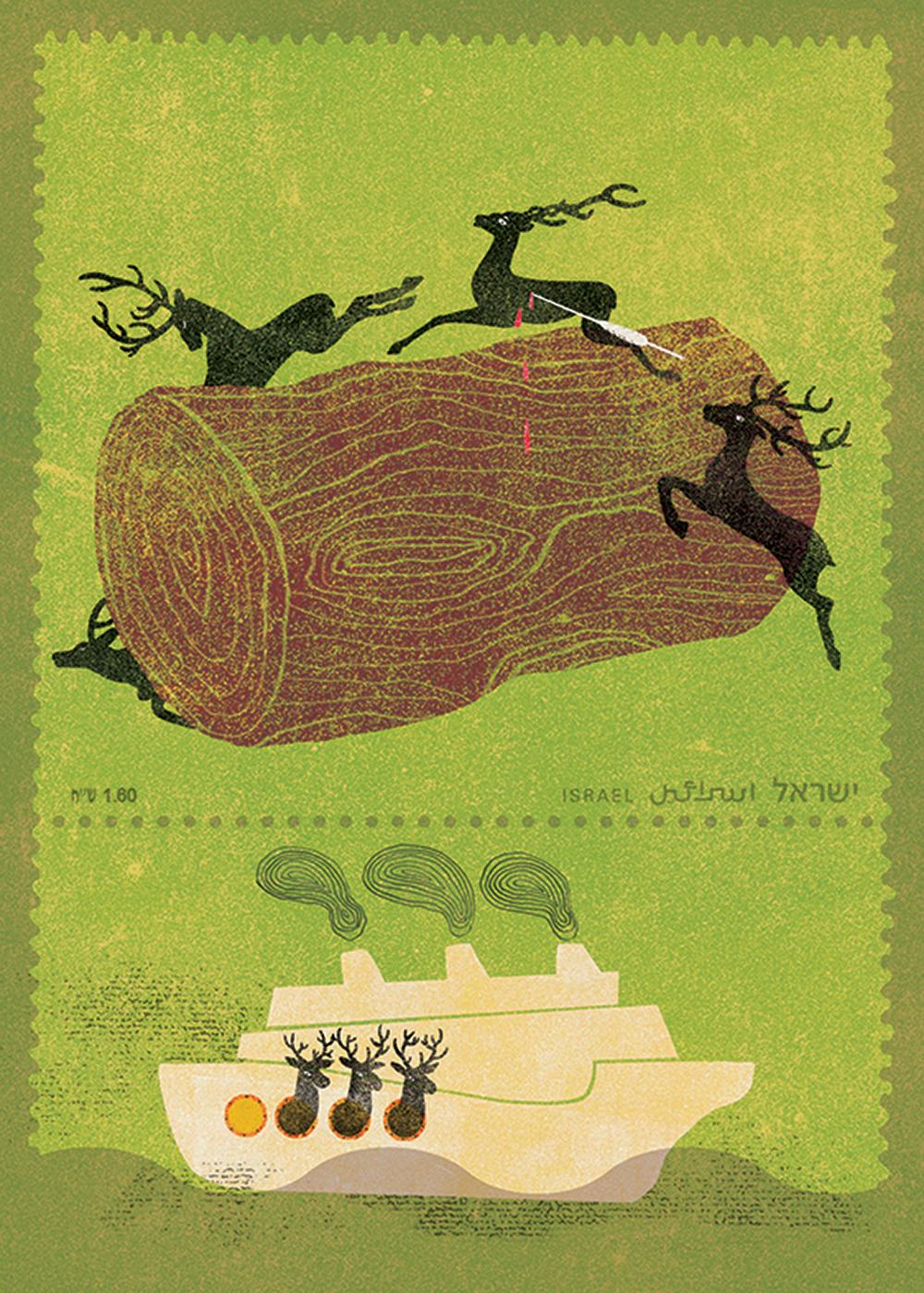 הצבי ישראל - איור של דורון זוהרי-שמש