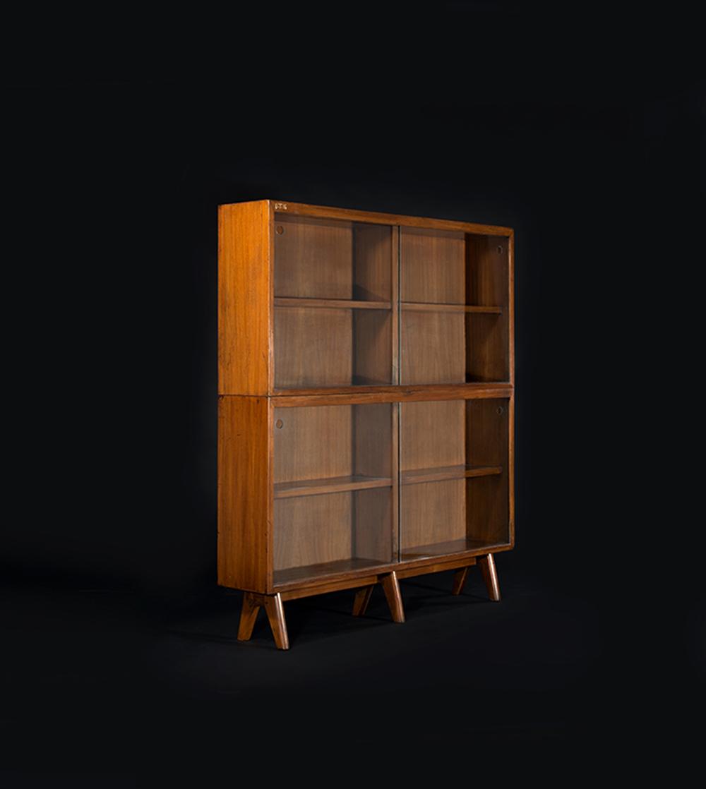 פייר ז'אנרה, ספרייה כפולה, עץ טיק, 1970
