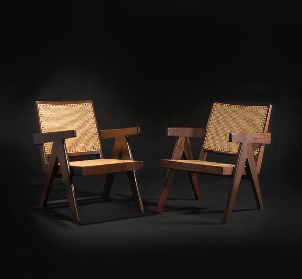פייר ז'אנרה, כיסאות קלועים, 1960