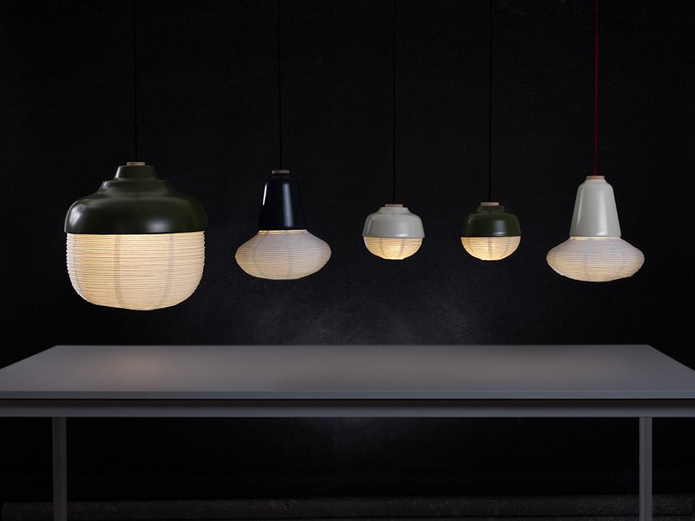 The New Old Light, גופי התאורה של Kimu Lab. מגוון אופני תאורה מאור ישיר ועד אור אווירה מרוכך ומפוזר