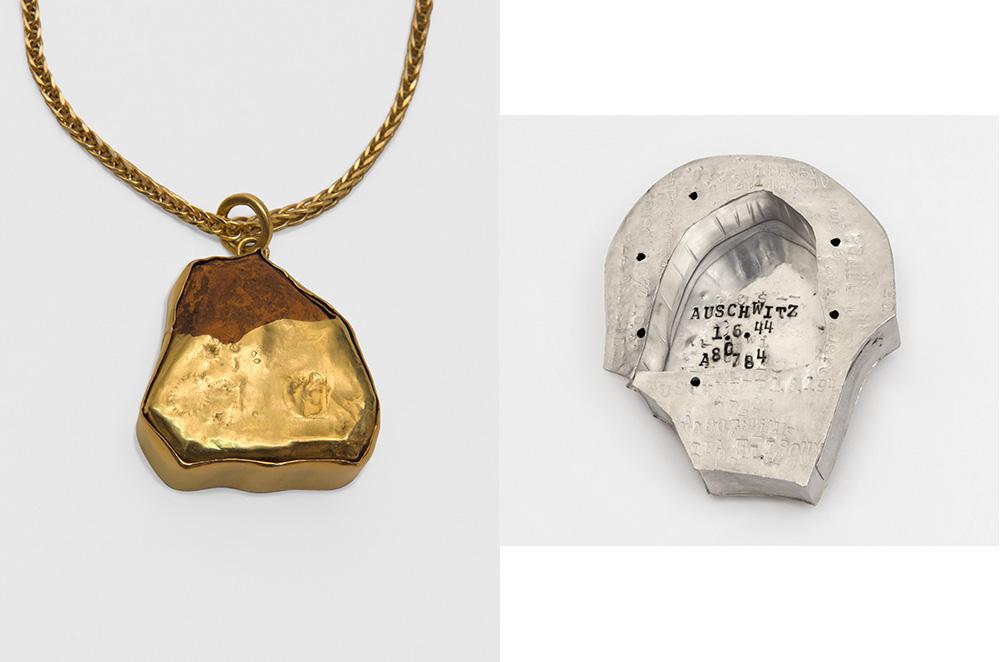 מימין: קופסה לתליון משמאל: האבן מאושוויץ נותרה חשופה חלקית. אלה וולף