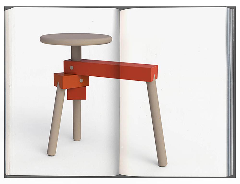 כיסא ושולחן צד ברהיט אד-הוק נייד וחסכוני במקום שהוא תופס