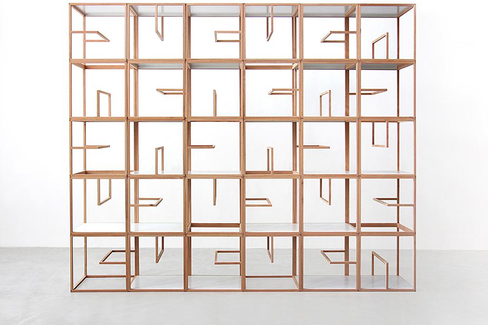 ספריית Textblock, גלריה אלברט לוי, מילנו 2015. חברת Tre הפולנית תייצר ותשווק