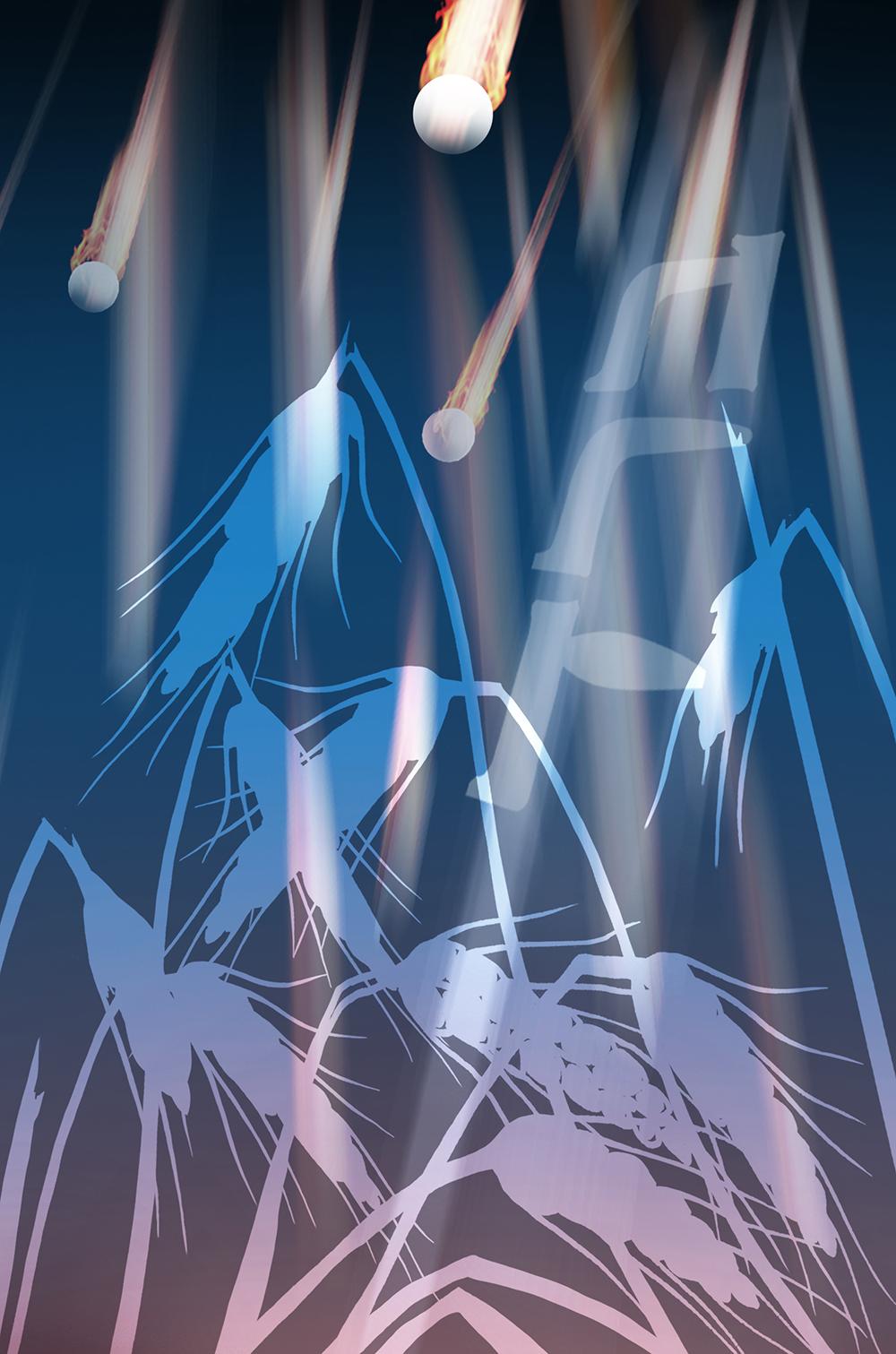 האיור של מכת ברד, פרט, תמונה ראשית