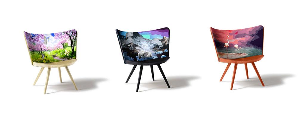 קפליני, Embeoidery Chair, יוהן לינדסטן