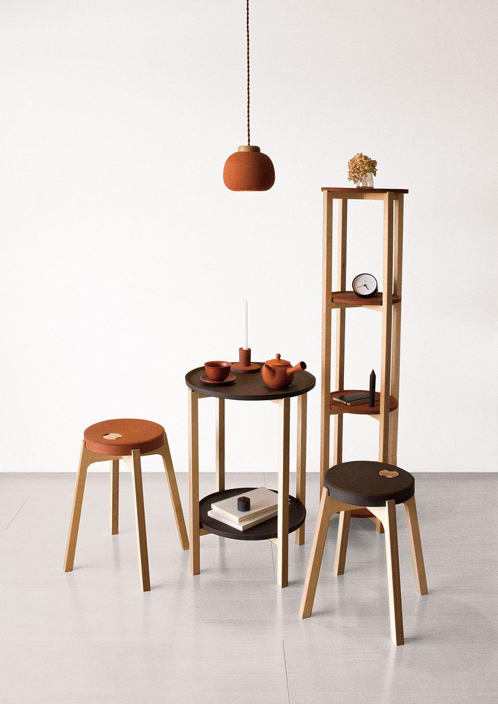 Shudei. סדרת הרהיטים של סטודיו Bouillon מפגישה בין החמר המסורתי לעיצוב עכשווי