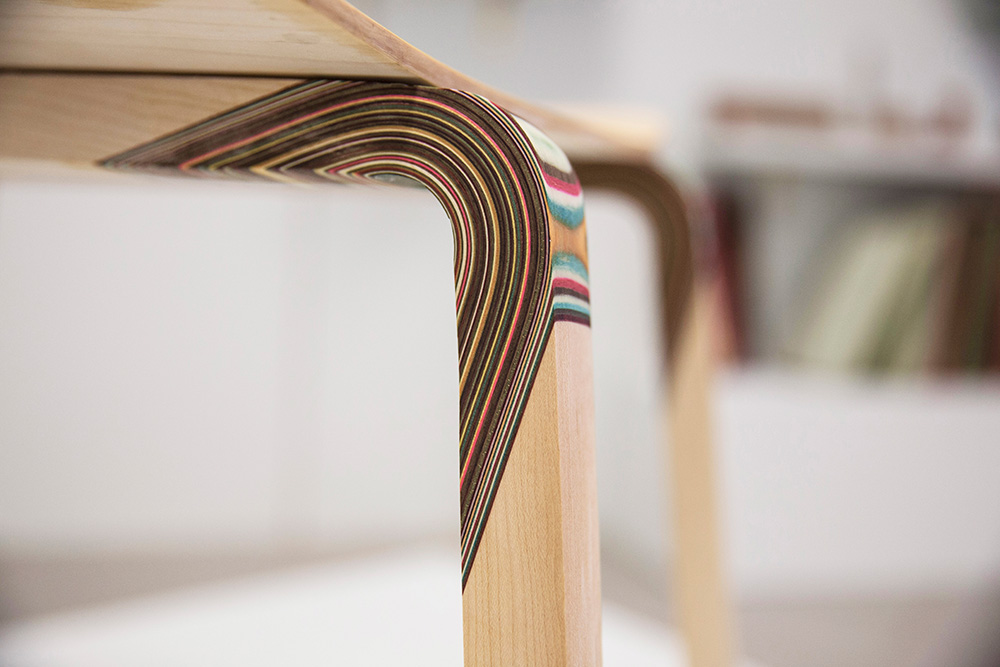 wood couture, נטע אשרי, כיסא המפרקים הצבועים, פרט