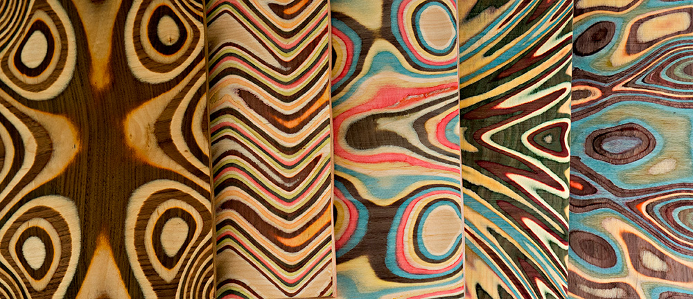 wood couture, נטע אשרי, הלוחות הצבועים, תקריב. צילום: מאיר קרמר