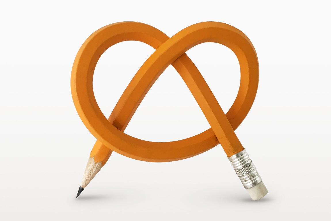 העיפרון של דני הטייס וגלעד פודגור (עיפרון צהוב מכופף כבייגלה)