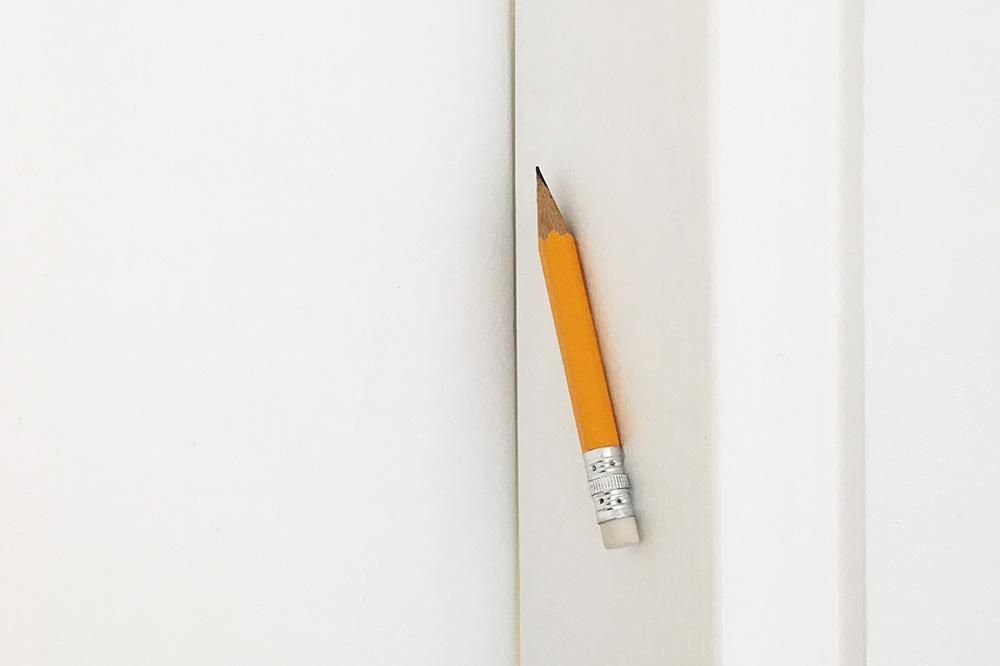 העיפרון של רותי קנטור (נצמד למשקוף כמו מזוזה)