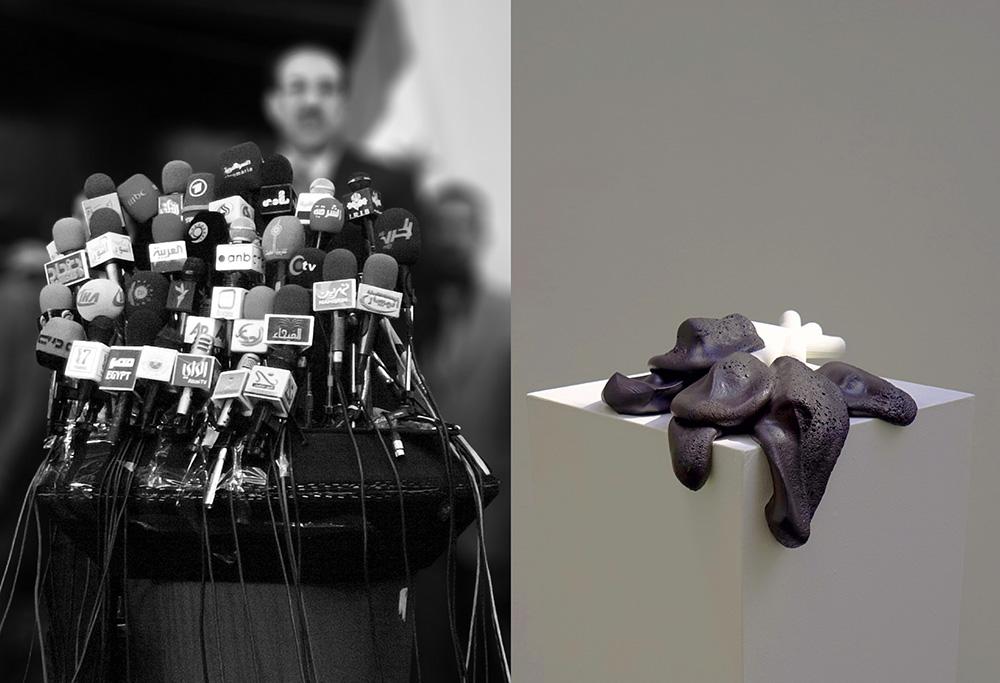 מיקרופונים, עבודה של קורווין לנד