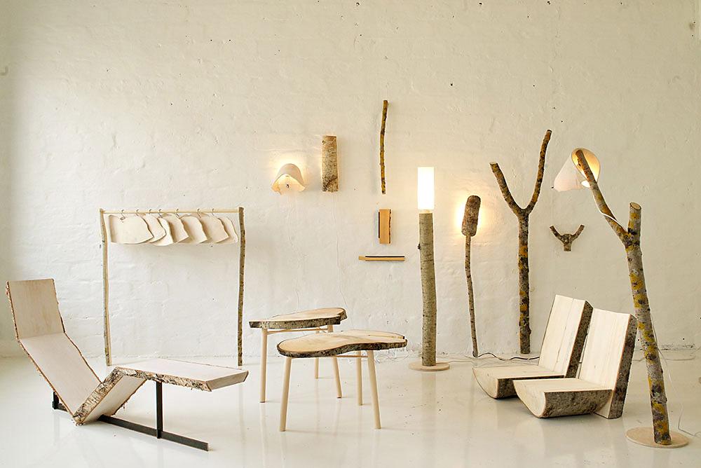 raw collection, אוסף רהיטי הלבנה של Sanelma Hihnala, נולד בפרויקט הגמר שלה לתואר השני בעיצוב. המטרה: ליצור אובייקט בעיבוד המינימלי האפשרי של חומר הגלם