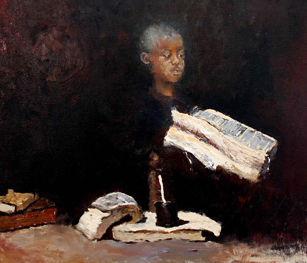 ענבל מארי כהן, ללא כותרת, שמן על בד מוצמד לקרטון, 2016